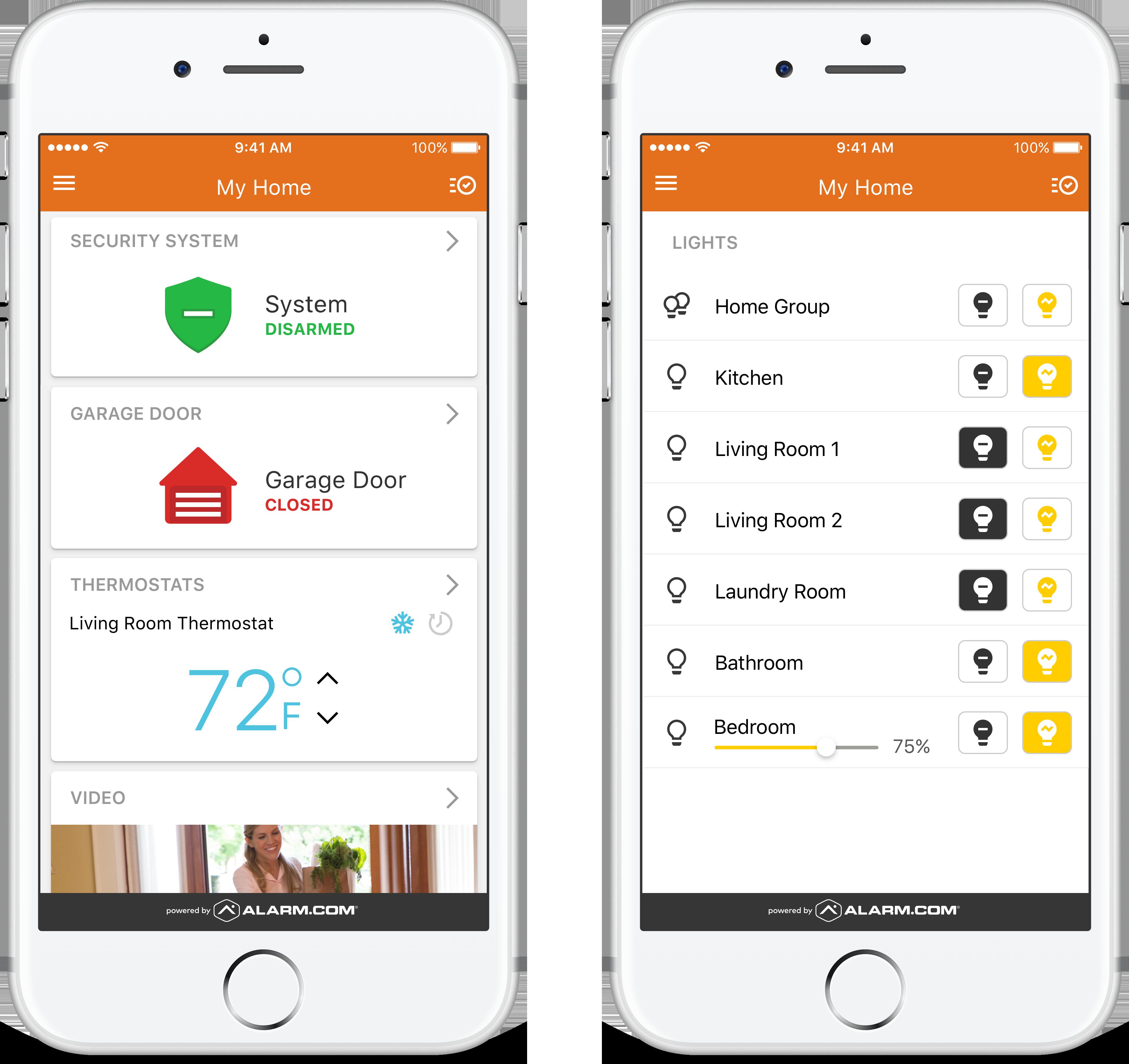 Alarm com Media Center | Interactive Security Systems, Home Alarm