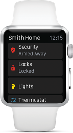 Alarm.com app for Apple Watch