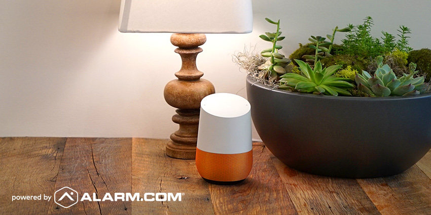 Okay Google: Ask Alarm com To Secure My Home!