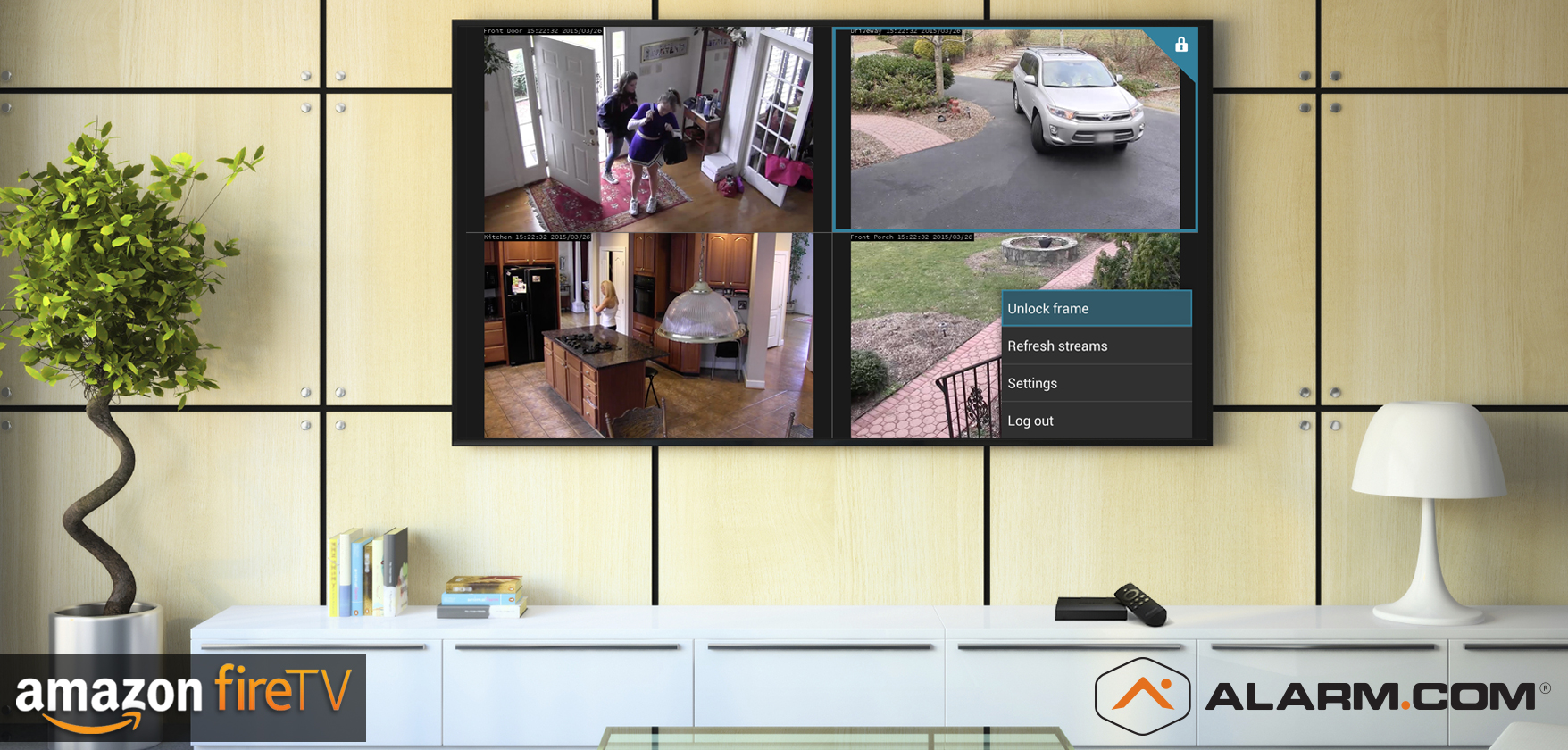 Video Monitoring from the Couch: Alarm com's Amazon Fire TV app