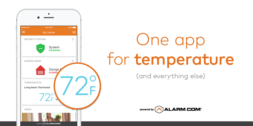 smart home app thermostat